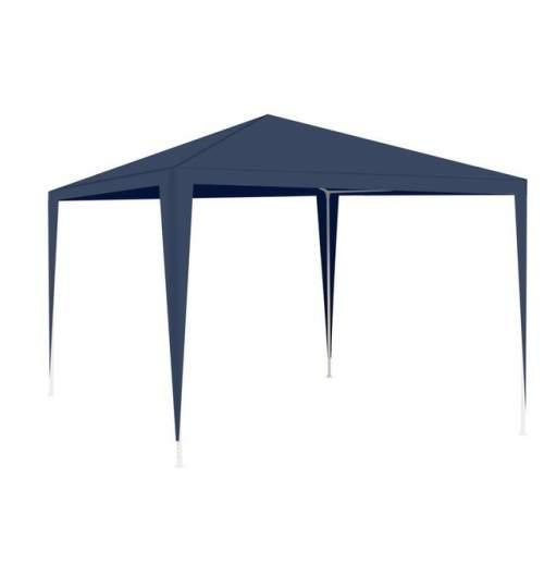 Cort pavilion Malatec pentru gradina, curte sau evenimente, 3x3m, culoare Bleumarin
