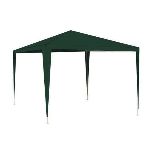 Cort pavilion Malatec pentru gradina, curte sau evenimente, 3x3m, culoare Verde
