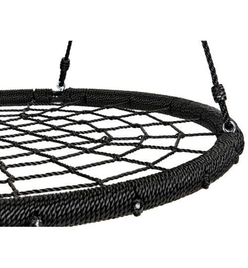 Leagan Balansoar rotund tip cuib pentru curte, gradina sau terasa, capacitate 100kg, diametru 100cm