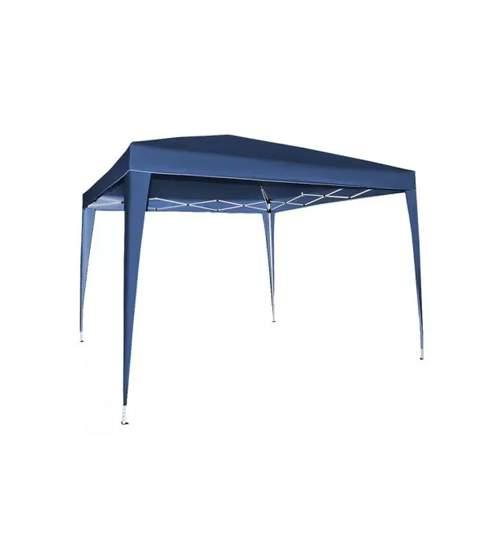 Cort Pavilion Pliabil Express, pentru Curte, Gradina sau Evenimente, Dimensiune 3x3m, Culoare Albastru