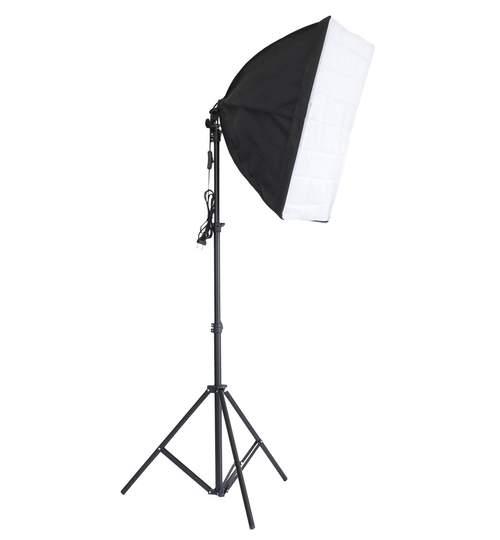 Kit Lumina Continua Softbox pentru Studio Foto sau Videochat cu Suport Trepied Reglabil 78-230cm