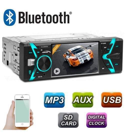 Radio MP3 MP5 Player Auto 1DIN cu Bluetooth, Handsfree, USB, Telecomanda, Ecran LCD, Putere 4x50W