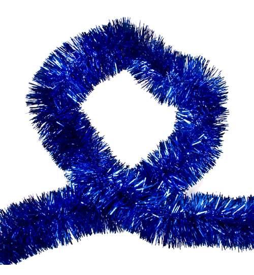 Beteala pentru Craciun, Lungime 6m, Culoare Albastru, Diametru 5cm