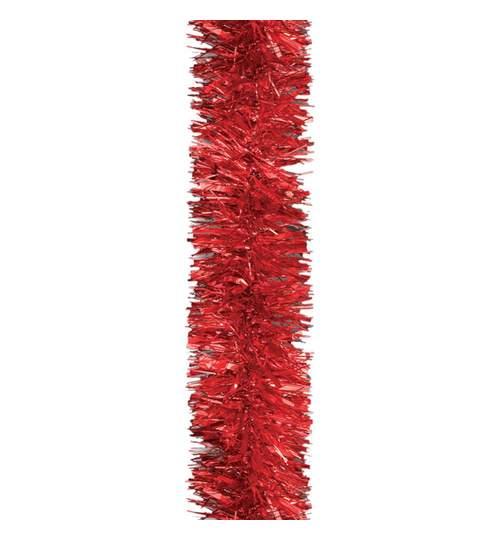 Beteala pentru Craciun, Lungime 6m, Culoare Rosu, Diametru 5cm