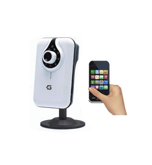 Camera Video IP Wireless, Conectare la TV sau Telefon, Microfon Incorporat, Card SD