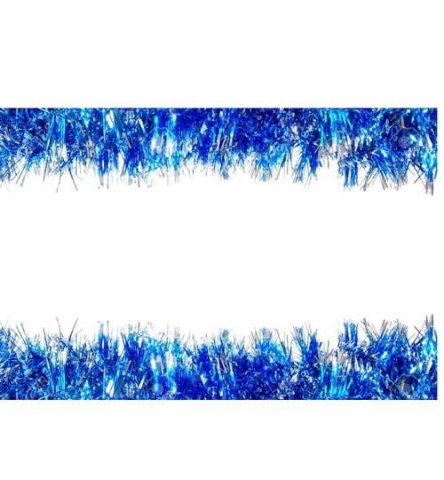 Beteala pentru Craciun, Lungime 5m, Culoare Albastru-Alb, Diametru 5cm