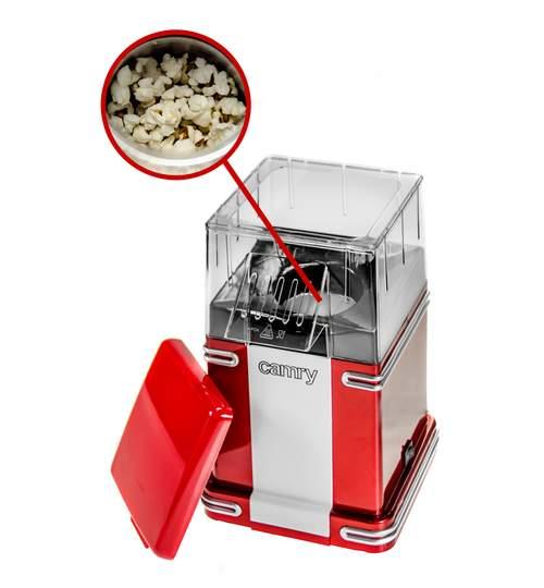 Aparat de preparat popcorn, putere 1200W, culoare Rosu