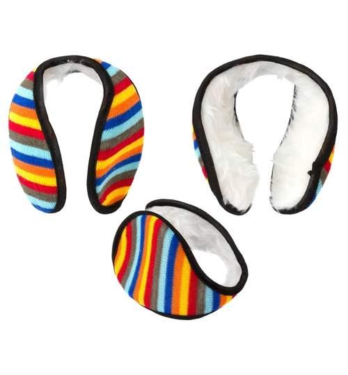 Casti protectie urechi impotriva frigului si a vantului, multicolore, dimensiuni 10x13cm