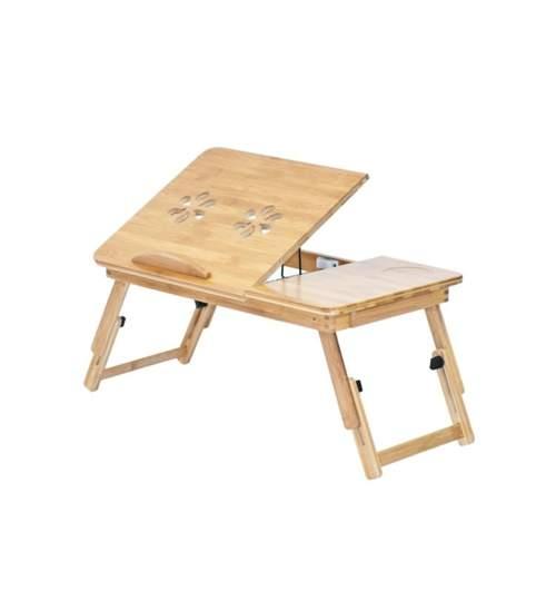 """Masa din lemn pliabila si unghi reglabil pentru laptop de 17"""""""