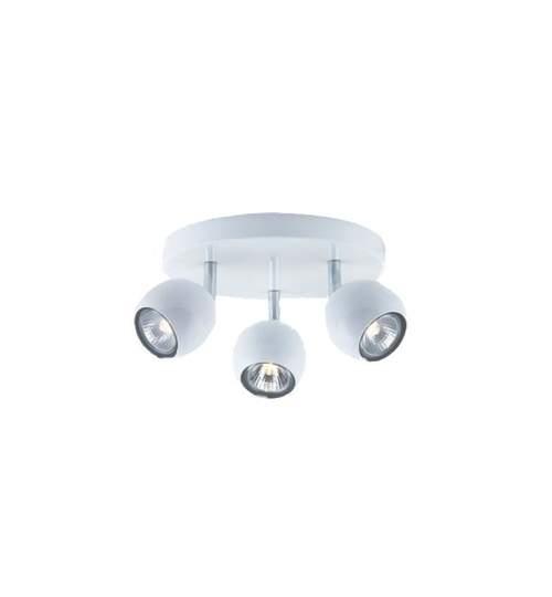 Corp iluminat VERA cu 3 surse de lumina, culoare alb lucios