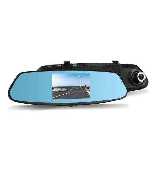 Pachet Oglinda Auto Retrovizoare cu Display 4.3 Inch, Camera Video Marsarier si Camera Video DVR Full HD 1080 Vordon pentru Inregistrare Trafic