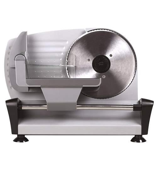 Feliator Electric pentru Carne, Mezeluri sau Paine, Camry 200W, Inox, Diametru 19cm, Grosime Reglabila Max 15mm