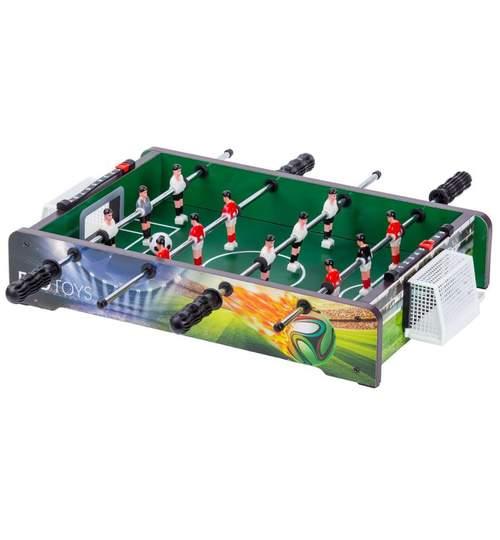 Masa Joc de Foosbal Mini Fotbal cu 12 Jucatori, Dimensiuni 46x31x9cm
