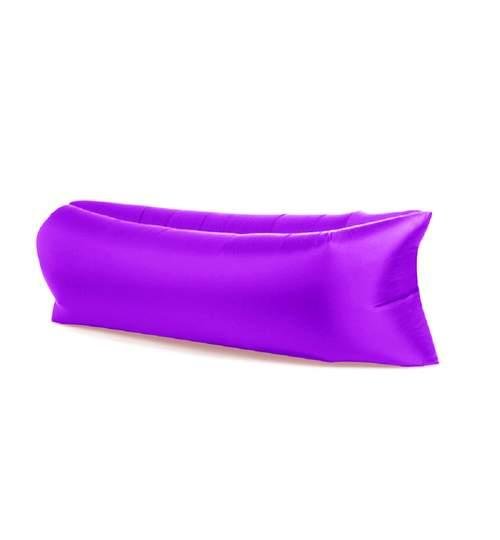 Saltea Gonflabila tip Sezlong Lazy Bag pentru Plaja sau Piscina + Rucsac Depozitare, culoare Violet