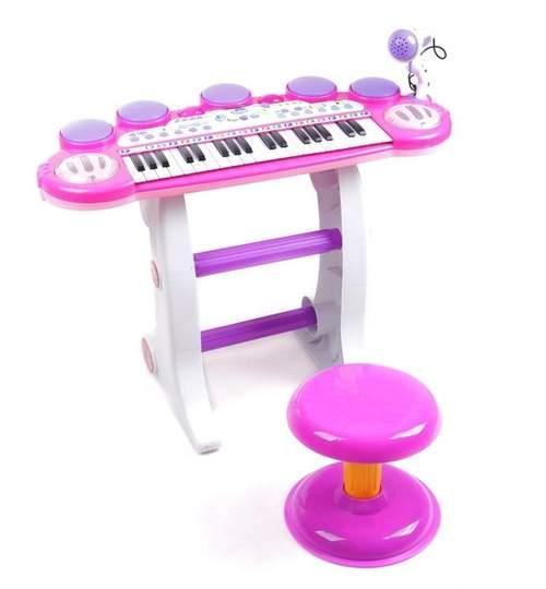 Set Orga 37 Clape pentru Copii cu Stativ si Scaunel + Microfon