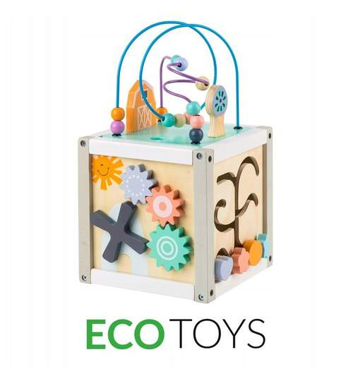 Set Joc Cub Educational Multifunctional 5-in-1 pentru Copii, Dimensiuni 20x20cm