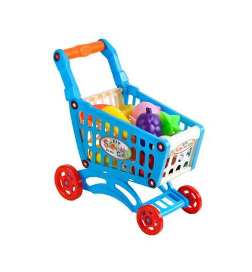 Set Joaca pentru Copii, Cos pentru Cumparaturi cu Fructe si Legume din Plastic
