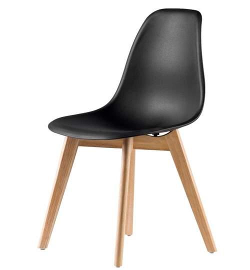 Scaun Modern Venetia pentru Bucatarie, Living, Sufragerie sau Exterior, Model PC-001, Culoare Negru