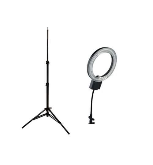 Set Profesional Lampa Rotunda 40W pentru Fotografii cu Suport Trepied 220cm Reglabil pentru Studio Foto