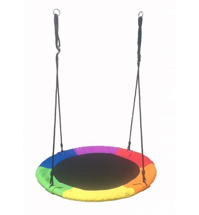 Balansoar Terasa.Leagan Balansoar Rotund Tip Cuib Pentru Curte Gradina Sau Terasa Capacitate Maxima 150kg Diametru 100cm Multicolor 189 99lei